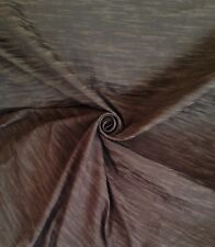 11 Metres Textured Bark Design Curtain & Upholstery Fabric In Chocolate