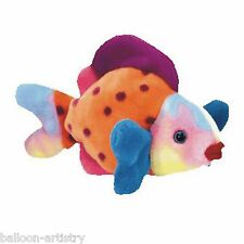 Ty Beanie Baby Lips the colourful Fish Retired DOB March 15th 1999 soft toy