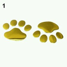 Car Bumper/ Body 3D PVC Decal Stickers Animal Puppy Dog PAW PRINTS gold