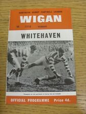 19/03/1966 Rugby League Programme: Wigan v Whitehaven [League Challenge Cup] . C