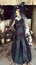 "Halloween Collectable ""Bella Lux"" Witch doll figure decoration prop 32""TALL"