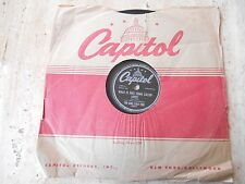"78 RPM ""WHAT IS THIS THING CALLED LOVE/PRELUDE IN C SHARP MINOR"" KING COLE TRIO"