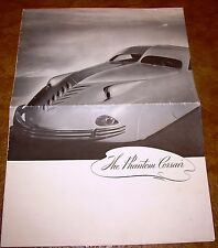 1938 Phantom Corsair Sales Brochure Rare Original Rust Heinz Maurice Schwartz