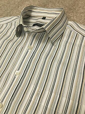 GORGEOUS ETERNA EXCELLENT GOLD CHARCOAL STRIPE SHIRT 16 COLLAR COST £85
