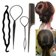 4pc/Set Hair Twist Styling Clip Stick Bun Comb Maker Braid Tool Hair Accessories