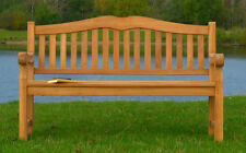 Quality Teak Park Memorial Bench Commercial 3 Seater Garden Furniture Seat