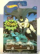 GREAT MATELL HOT WHEELS CLASSIC 1966 BATMAN TV SERIES BATMOBILE MINT ON CARD 1/6