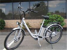 Electric motorized bicycle with battery and pedals, electric-bike-motor