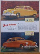 1946 magazine ad for Kaiser Frazer autos - Kaiser Special & Frazer, colorful