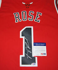 DERRICK ROSE SIGNED AUTOGRAPHED CHICAGO BULLS RED ADIDAS SWINGMAN JERSEY PSA/DNA