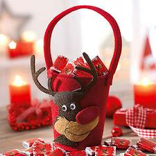 Neu+Filz+Korb+Säckchen+Nikolaus+Weihnachten+Stiefel+Geschenktasche+Renntier+