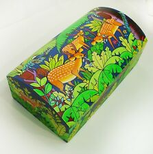 Handpainted Amazon Jungle Treasure Chest Deer