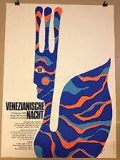 PLAKAT FASCHING MÜNCHEN 1969 VENEZIANISCHE KUNST HAUS DER KUNST