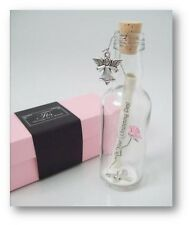 Christening Gift for Girl PERSONALISED Keepsake Message In a Bottle Present