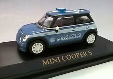 WELLY 1:43 DIE CAST AUTO MINI COOPER S POLIZIA ART 70101