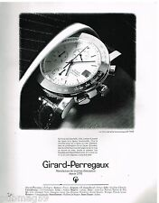 Publicité Advertising 1990 La Montre Chronographe GP 7000 Girard-Perregaux