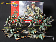 1/32 AIRFIX WW2 PROFESSIONALLY PAINTED AMERICAN INFANTRY BOXED X 14. SOLDIER