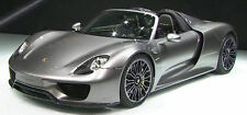 MINICHAMPS 2013 Porsche 918 Spyder Grey 1:18 Extremely Rare Dealer Edition!!