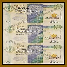 Seychelles 10 Rupees, 2013 Commemorative Uncut sheet 35th Anniversary Unc