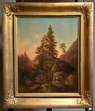 Antique 19th Century Swedish Oil Painting on Canvas