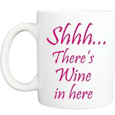 WINE IN HERE MUG funny novelty tea coffee gift womens mens office gifts