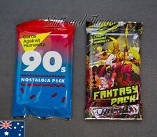 Cards Against Humanity - 2 x Booster Packs - Fantasy and 90's Expansion