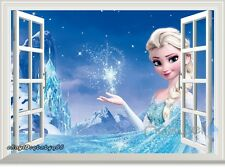 Disney Frozen Elsa Snowflake Ice Palace 3D Window Wall Decals Sticker Kids Decor