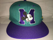 Vtg Mickey Mouse Snapback hat cap rare 90s cartoon blockhead disney og goofey