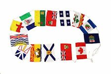 """14 CANADA PROVINCIAL 12"""" X 18"""" INCH FLAG BANNER BUNTING .. NEW"""
