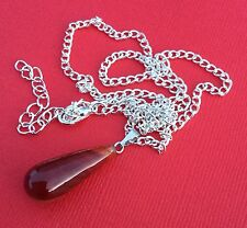 NEW Carnelian Gemstone Tear Drop Pendant Necklace Women's - Aussie Seller!!!