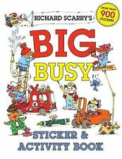 Richard Scarry's Big Busy Sticker & Activity Book-ExLibrary