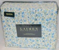 Ralph Lauren Blue Floral 4 Piece Queen Sheet Set New 1st Quality
