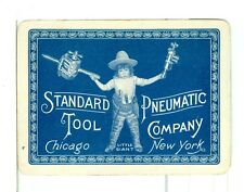 """Single Vintage Old Wide Playing Card """"Little Giant Tools""""  Adv Blue"""