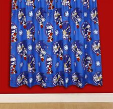 "SONIC THE HEDGEHOG SPRINT CHARACTER CURTAINS 66"" x 54"" CHILDREN / JUNIOR"