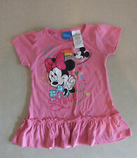Adorable Official Disney Mini Mouse Pink Frill Hem Dress Baby Girl 2 Years 24 Mo