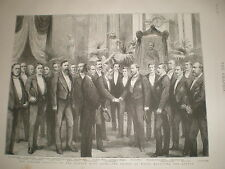 Prince Edward VII of Wales at the Gordon Boys' home 1886 old print ref BW