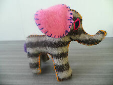 """6"""" TALL ELEPHANT TWOOLIES HANDMADE DECORATIVE WOOL ANIMAL MEXICO GIFT SMALL NWOT"""
