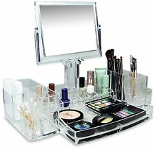 Deluxe Makeup Organizer Vanity Cosmetic Storage Luxury Beauty Display Case