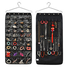 Jewellery Hanging Storage Display Bag Hanger Accessory Organiser Double Side
