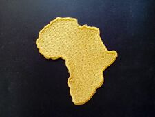 "Rasta Africa Map (Gold) Embroidered Patches 3.25""x3"""