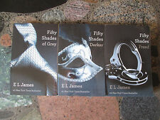 50 FIFTY SHADES OF GREY COMPLETE TRILOGY Set Darker Freed E. L. James Softcover