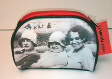 1927 COSMETIC CASE BAG Faux Leather RED ZIP Soul UK Vintage Photo GIFT 1927G09