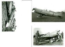 3: 4X6 (MISS TULSA #1) MILES & ATWOOD 1935 RACING AIRPLANE PHOTOGRAPHS SET #67