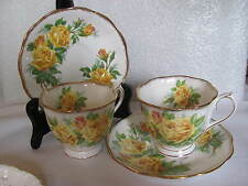 2  ROYAL ALBERT BONE CHINA  CUP/SAUCER  ENGLAND  # 839056  TEA ROSE PATTERN
