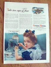 1944 GM General Motors Ad Two Cups of Flour Copper 1944 Libby's Tomato Juice Ad
