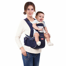 Baby Hip Seat  Infant Baby Carrier Sling Wrap Backpack Front/Back Hipseat Blue