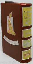 """Chapter of Selected Spirit Book Rye Decanter Bottle Made in Japan 6.5"""" 42869"""