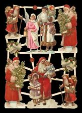 Victorian style Santa Christmas Cherub Fairy Scrap Card Making Art Project