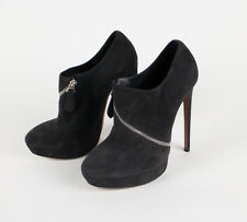 "NIB ALAIA Black Suede Leather Wrap Around Zip 5.5"" High Heels Shoes 10/40 $1650"