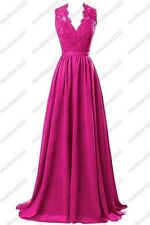 New Long Chiffon Evening Formal Party Ball Gown Prom Bridesmaid Dress Size 6-22